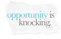 Opportunity Knocks. Who Answers?